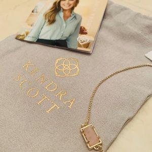 Kendra Scott Rose Quartz Gold Phillipa Bracelet